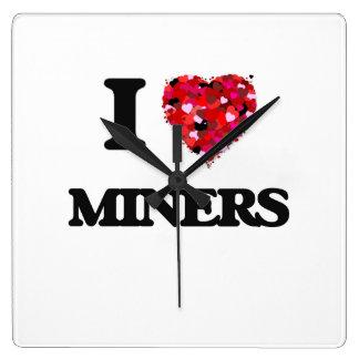 I love Miners Square Wall Clocks