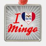 I Love Mingo, Iowa Christmas Tree Ornaments