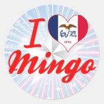 I Love Mingo, Iowa Round Sticker