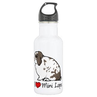 I Love Mini Lop Rabbits 18oz Water Bottle