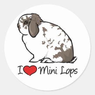 I Love Mini Lop Rabbits Classic Round Sticker
