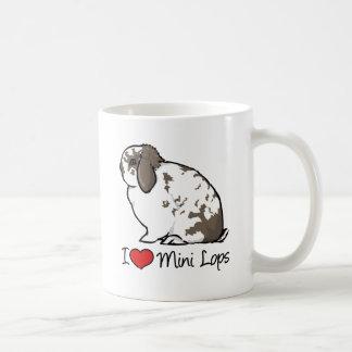 I Love Mini Lop Rabbits Classic White Coffee Mug