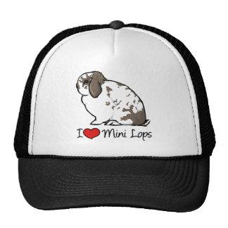 I Love Mini Lop Rabbits Trucker Hats