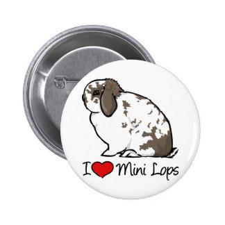 I Love Mini Lop Rabbits Pin