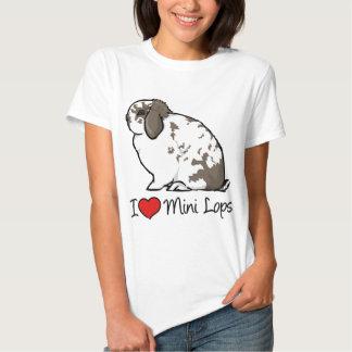 I Love Mini Lop Rabbits T Shirts