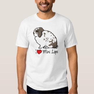 I Love Mini Lop Rabbits Tee Shirt