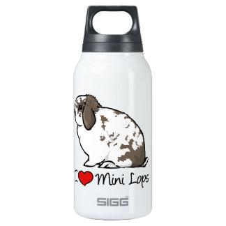 I Love Mini Lop Rabbits Thermos Bottle