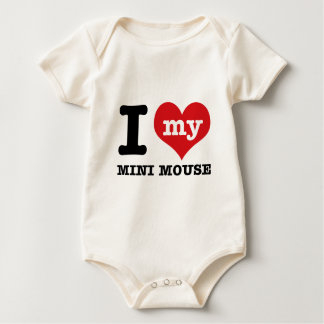 I love MINI MOUSE Baby Bodysuit