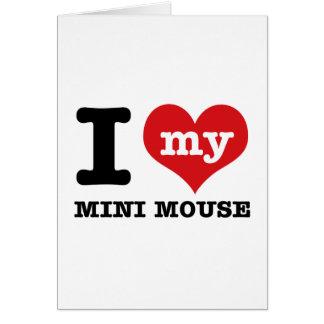 I love MINI MOUSE Card