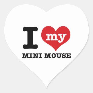 I love MINI MOUSE Heart Sticker