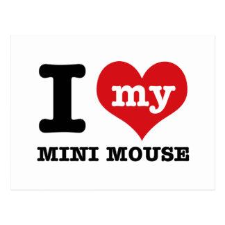 I love MINI MOUSE Postcard