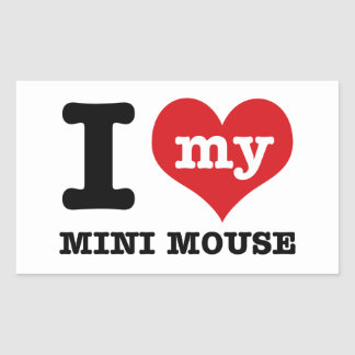 I love MINI MOUSE Rectangular Sticker