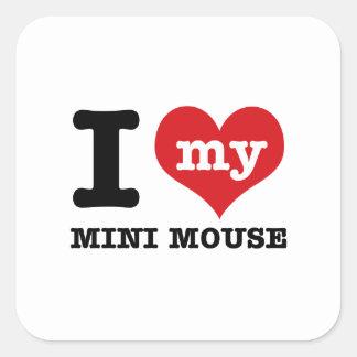 I love MINI MOUSE Square Sticker