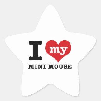 I love MINI MOUSE Star Sticker