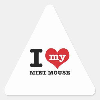 I love MINI MOUSE Triangle Sticker