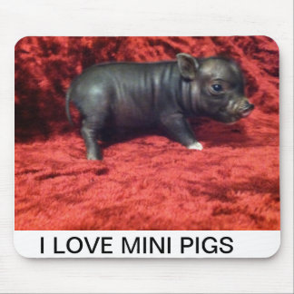 I love Mini pigs mouse pad