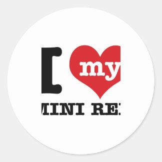 I love MINI REX Classic Round Sticker