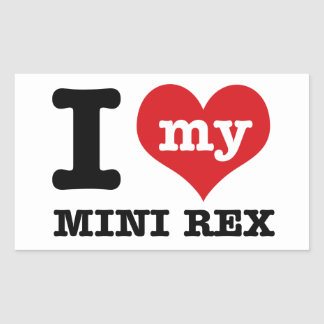 I love MINI REX Rectangular Sticker
