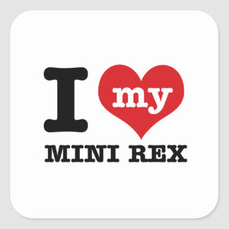 I love MINI REX Square Sticker
