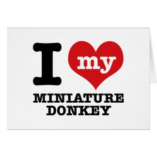 I love MINIATURE DONKEY Card