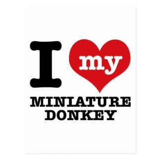 I love MINIATURE DONKEY Postcard