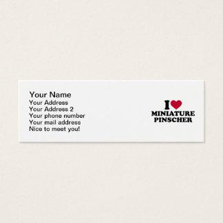 I love Miniature pinscher Mini Business Card