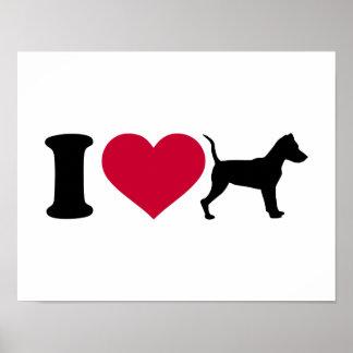 I love Miniature pinscher Posters