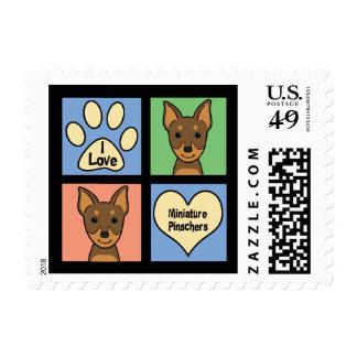 I Love Miniature Pinschers Postage Stamp