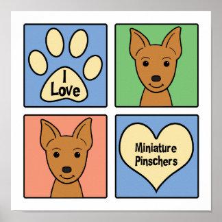 I Love Miniature Pinschers Poster
