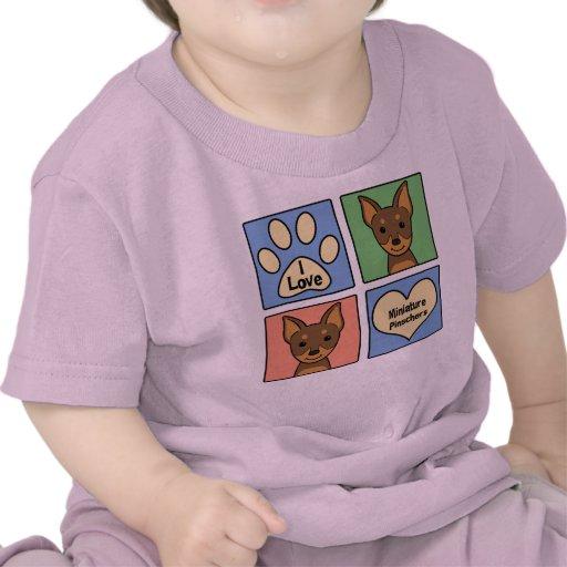 I Love Miniature Pinschers T-shirt