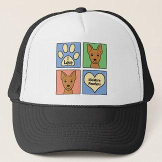 I Love Miniature Pinschers Trucker Hat
