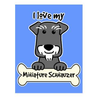I Love Miniature Schnauzers Postcard
