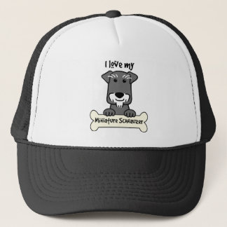 I Love Miniature Schnauzers Trucker Hat