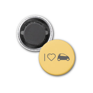 I Love Minicars 1 Inch Round Magnet