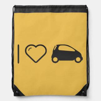 I Love Minicars Drawstring Backpack