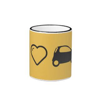 I Love Minicars Ringer Coffee Mug