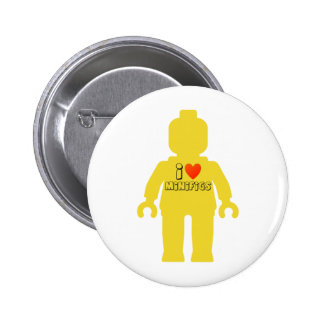 I Love Minifigs by Customize My Minifig Pin