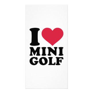 I love Minigolf Photo Card
