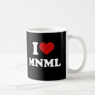 I Love Minimal Coffee Mug