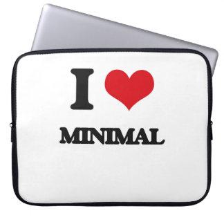 I Love Minimal Laptop Sleeves