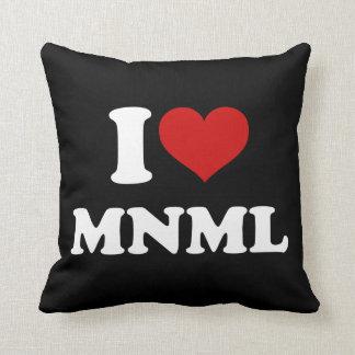 I Love Minimal Pillow