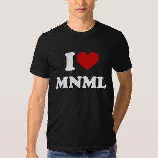 I Love Minimal T Shirt