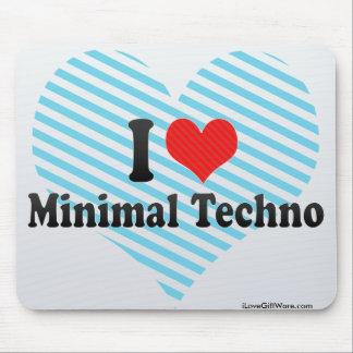 I Love Minimal Techno Mouse Pad