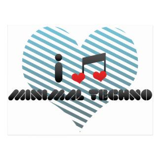 I Love Minimal Techno Postcard