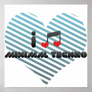 I Love Minimal Techno Poster