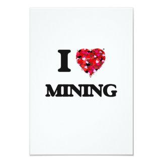 I Love Mining 3.5x5 Paper Invitation Card
