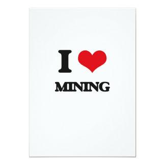 I Love Mining 5x7 Paper Invitation Card