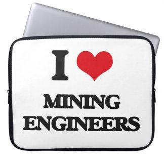 I love Mining Engineers Laptop Computer Sleeves