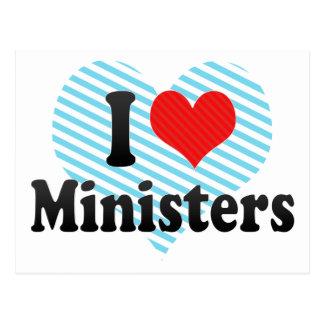 I Love Ministers Postcard