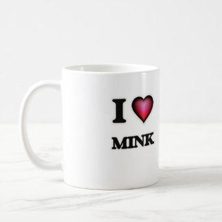 I Love Mink Coffee Mug